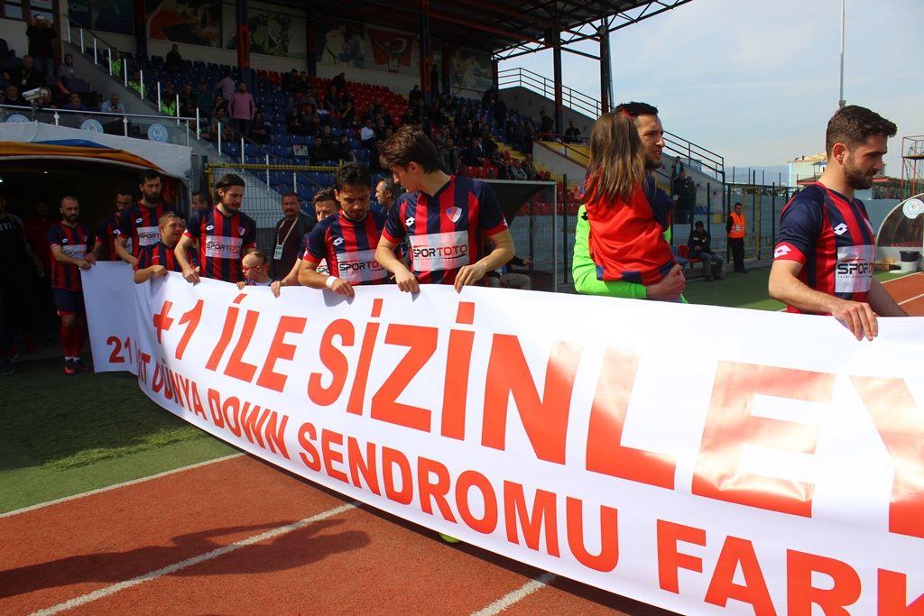 Down Sendromlu Çocukların Maç Heyecanı