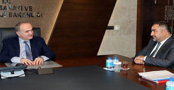 Yönetim Kurulumuz Bakan Faruk Özlü'yü Ziyaret Etti