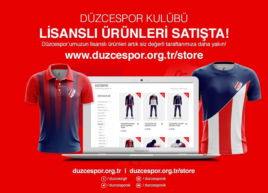 Düzcespor E- Store Mağazamız Açıldı